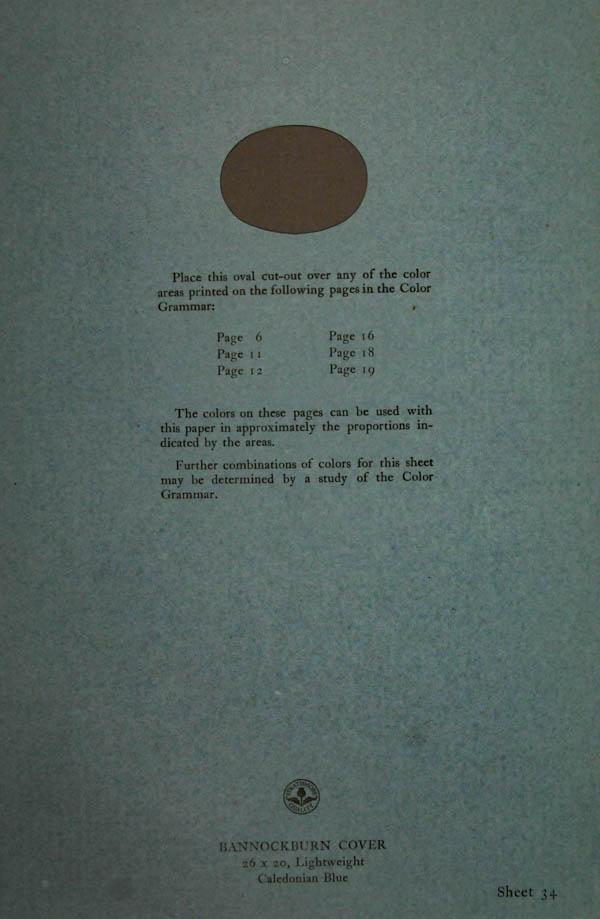 Grammar of Color Sheet Paper #34