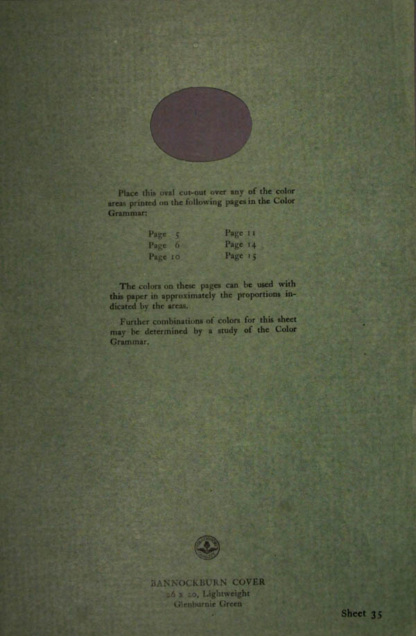Grammar of Color Sheet Paper #35