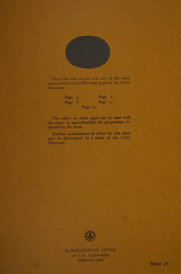 Grammar of Color Sheet Paper #36