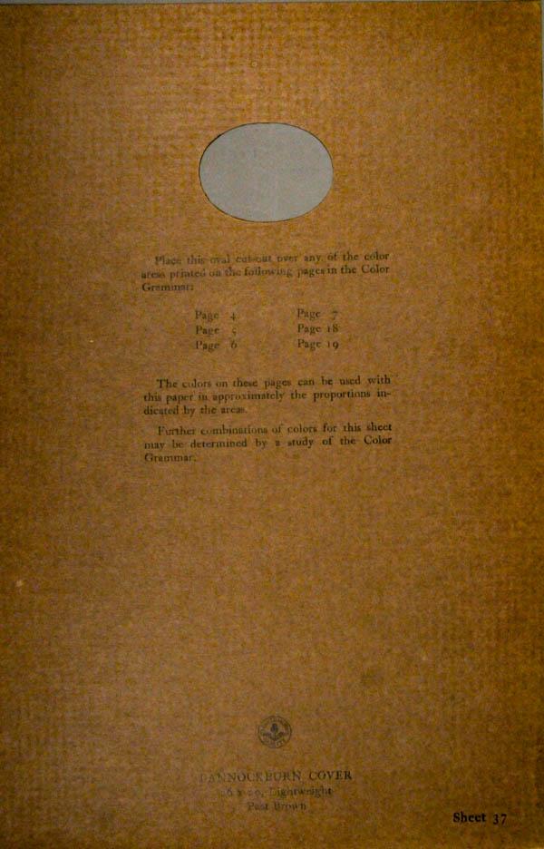 Grammar of Color Sheet Paper #37