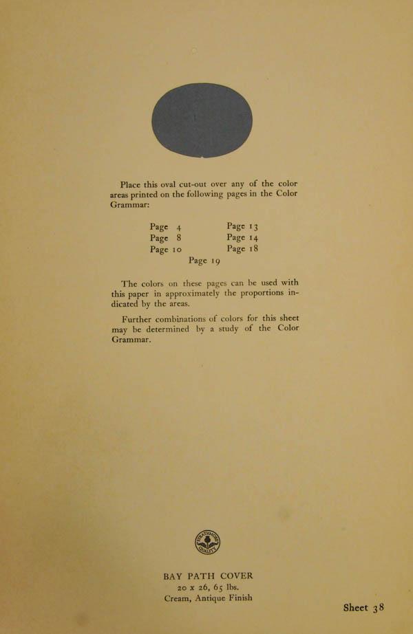 Grammar of Color Sheet Paper #38