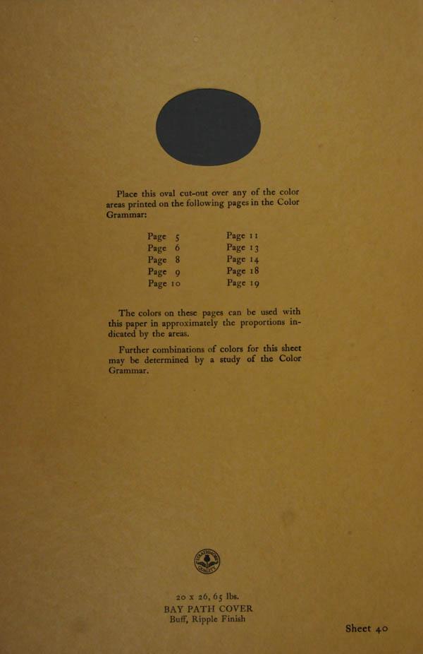 Grammar of Color Sheet Paper #40