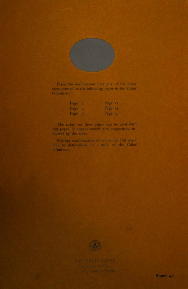 Grammar of Color Sheet Paper #41