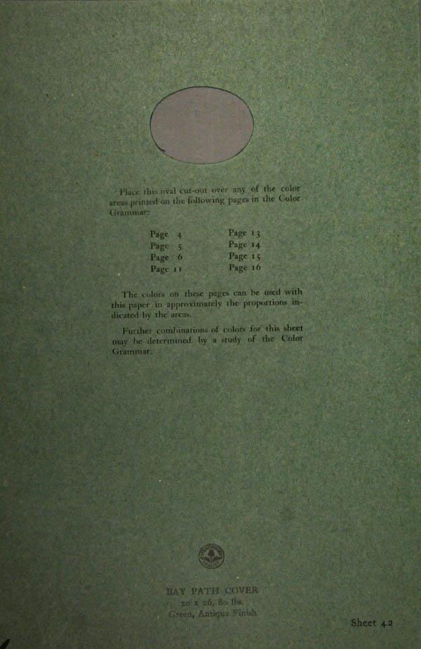 Grammar of Color Sheet Paper #42