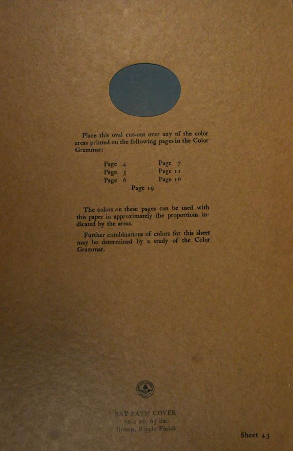 Grammar of Color Sheet Paper #43