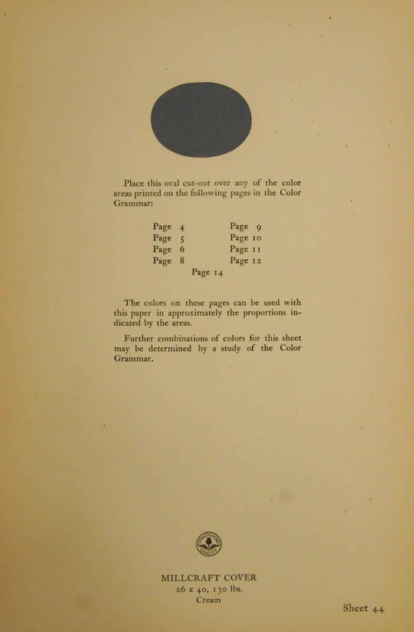 Grammar of Color Sheet Paper #44