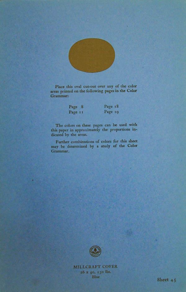 Grammar of Color Sheet Paper #45