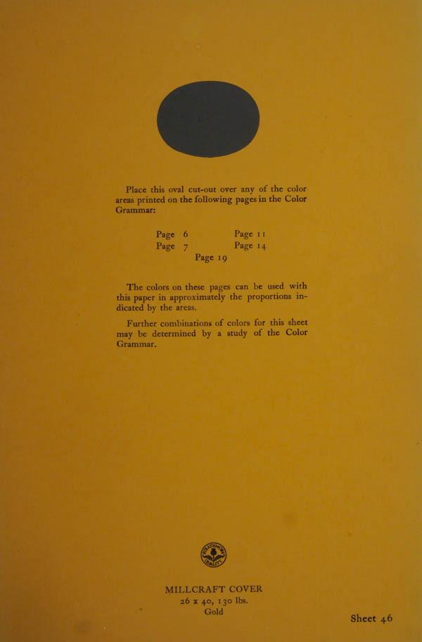 Grammar of Color Sheet Paper #46