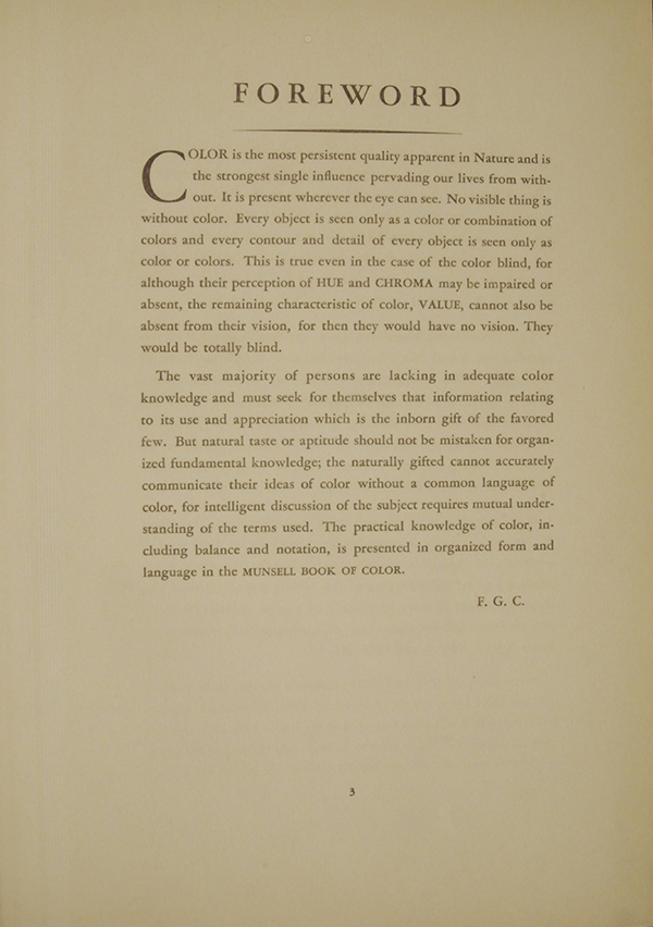 The Munsell Book of Color 1929: Foreward by F.G. Cooper | Munsell ...