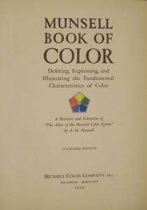 The title page from the Munsell Book of Color 1929 edition