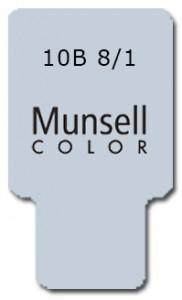 Munsell Chip Notation 10B 8/1