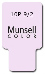 Munsell Chip Notation 10P 9/2