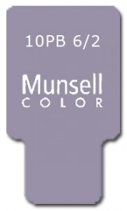 Munsell Chip Notation 10PB 6/2