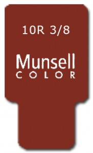 Munsell Chip Notation 10R 3/8