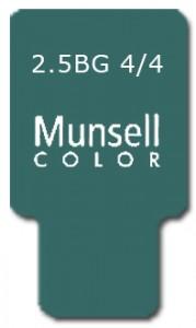 Munsell Chip Notation 2.5BG 4/4