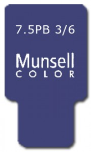 Munsell Chip Notation 7.5PB 3/6