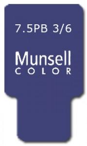 Munsell Chip Notation 7.5PB 3/6