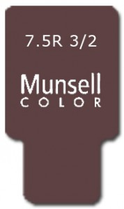 Munsell Chip Notation 7.5R 3/2