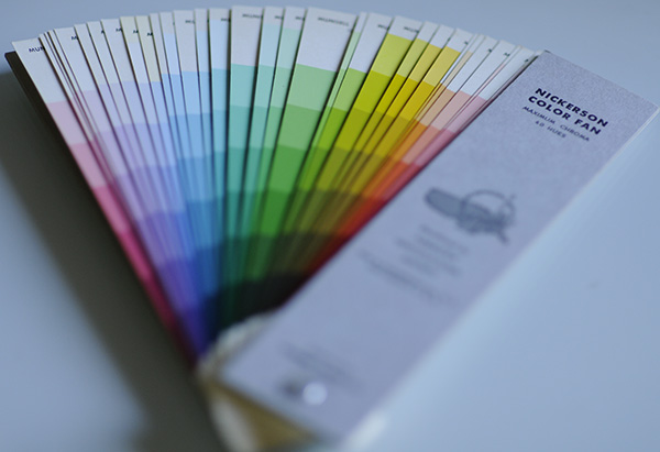 The Nickers color chart fan deck showing 262 colors