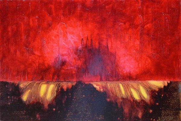 Pulsating Luminosity, a painting by Leanne Venier
