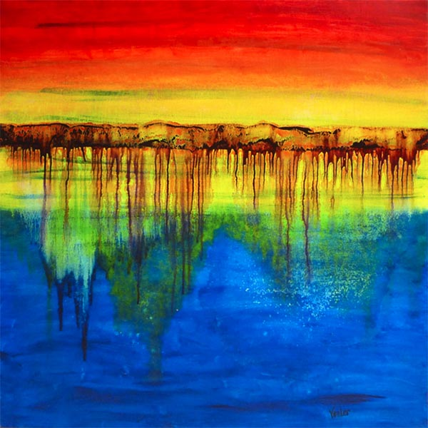Spectral Depths a painting by Leanne Venier
