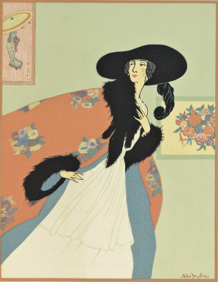 "From the 1921 book, ""A Grammar of Color"": A Design by Miss Helen Dryden for Vogue showing balanced color. Plate engraved by Rudolph Ruzicka."