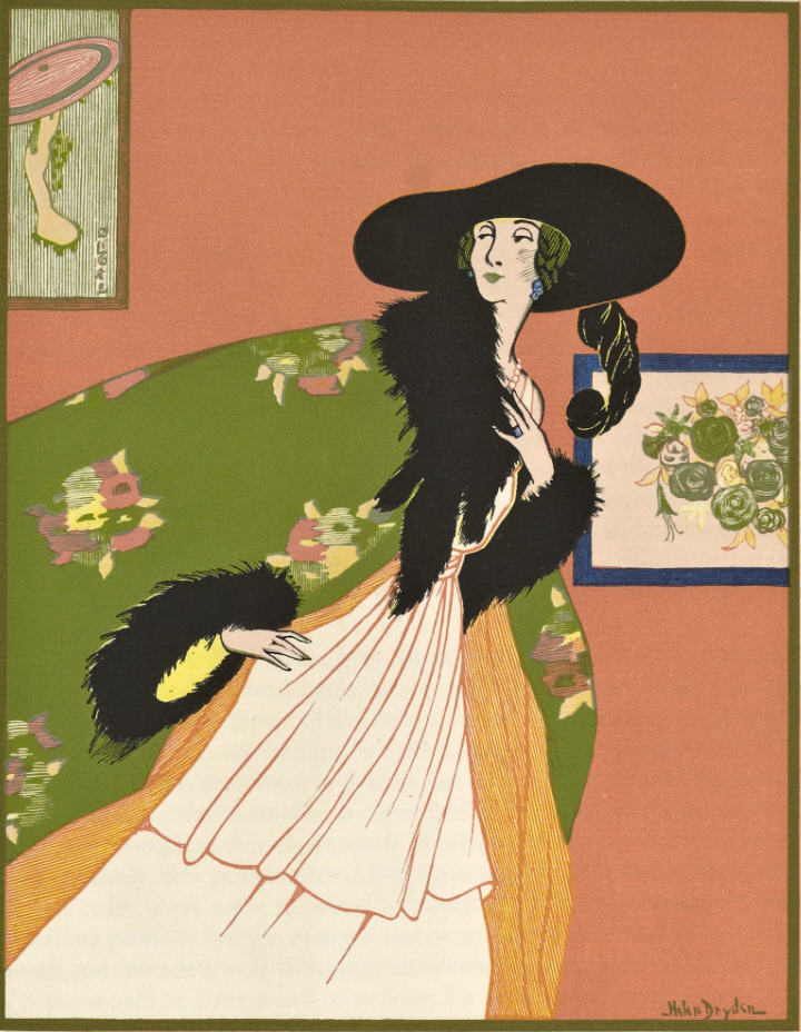 "From the 1921 book, ""A Grammar of Color"": A Design by Miss Helen Dryden for Vogue showing unbalanced color. Plate engraved by Rudolph Ruzicka."