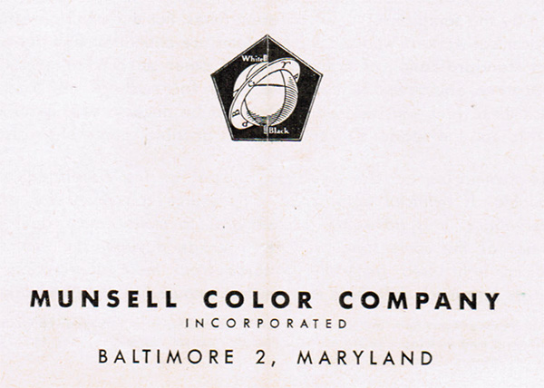 A drawing showing the Munsell Color Company