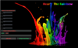 Hear The Rainbow's software interface.