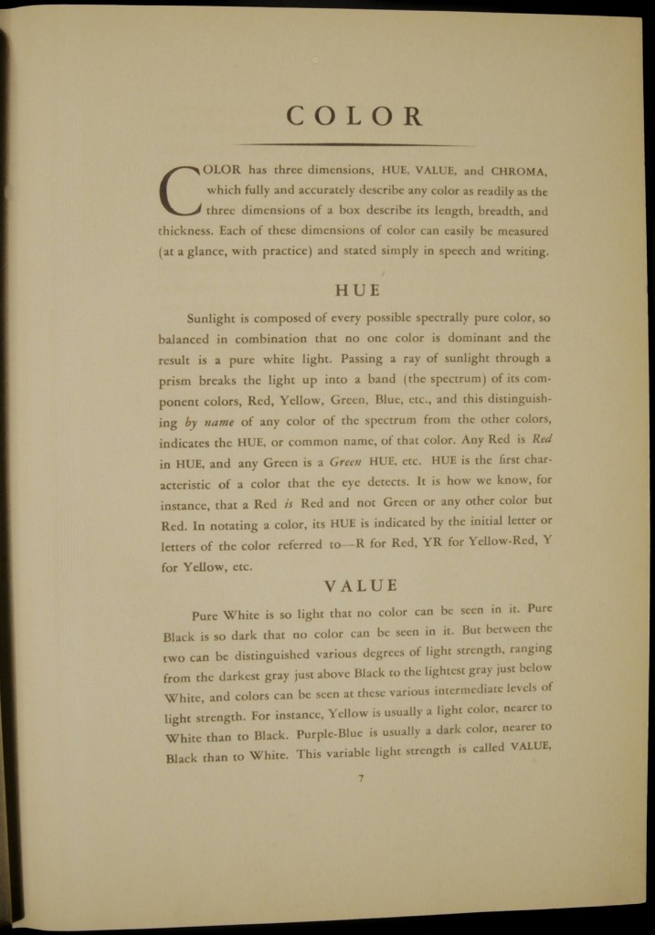 Page 07 of the Munsell Book of Color 1929: Hue, Value, Chroma