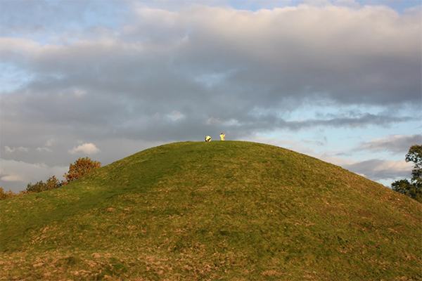 The motte at Brinklow Castle, Warwickshire