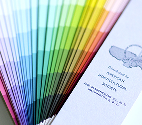 The Horticultural fan deck featuring Wilson color names and Munsell notations