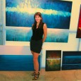 Artist & Color Therapy Expert Leanne Venier in her Austin gallery