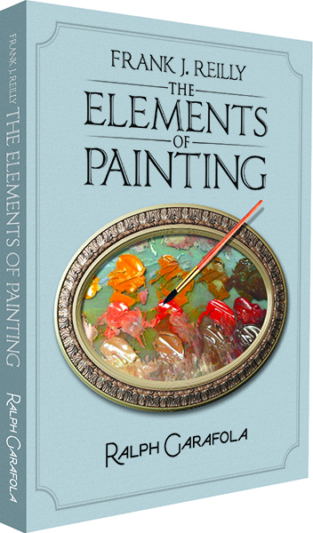 Book cover for Elements of Painting showing a yellow and red paint palette
