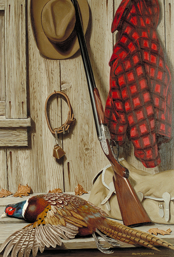 A painting by Ralph Garafola Ring Necked Pheasant