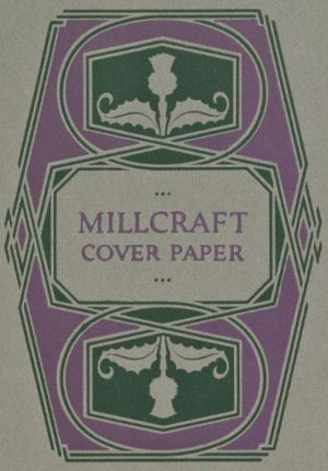 Color Sheet page from the 1921 book, A Grammar of Color, for Millcraft Covers manufactured in Gray, Antique Finish.