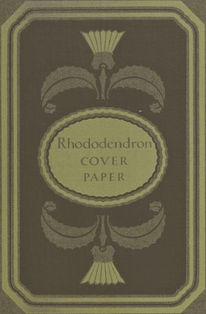 Decorative design demonstrating color combinations for Pyro Brown, Telanian Finish: Rhododendron Cover Paper from the 1921 book, A Grammar of Color.