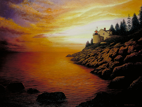 Painting by Ralph Garafola, Browns Head Light