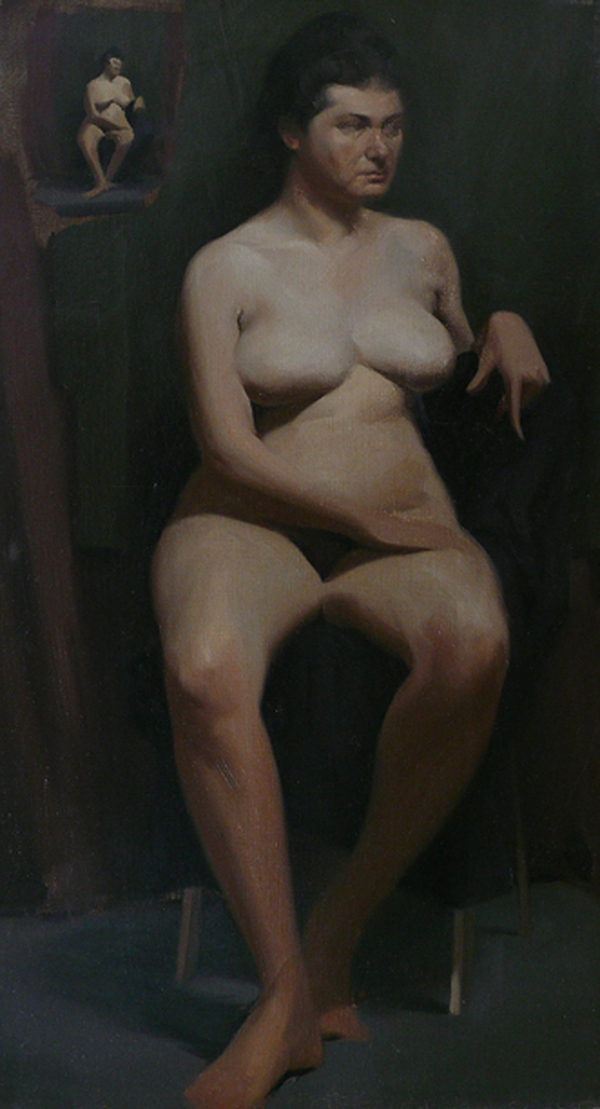 """Excerpt from the book """"Frank J. Reilly - Elements of Painting"""" featuring a figure painting by Ralph Garafola"""