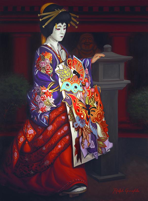 Painting by Ralph Garafola, Kubuki Courtesan
