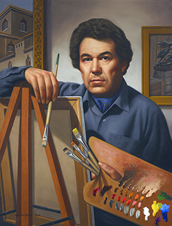 A self portrait of author and painter Ralph Garafola