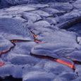 A lava flow over soils at Hawai'i Volcanoes National Park