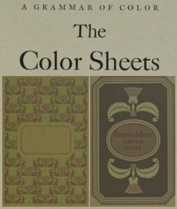 The Color Sheets of Brown and Grouse Drab from the 1921 book, A Grammar of Color.