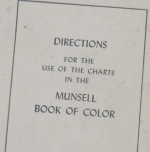 This Text Is An Insert From The First Volume Of Mun Book Color Pocket Edition 1942 And Outlines Use Charts