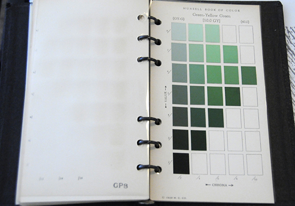 Excerpt from Munsell Book of Color Pocket Edition 10GY