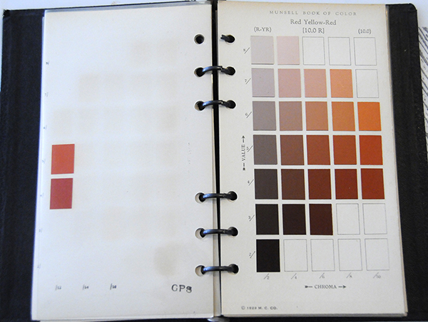 Excerpt from Munsell Book of Color Pocket Edition 10R
