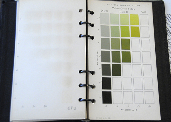 Excerpt from Munsell Book of Color Pocket Edition 10Y