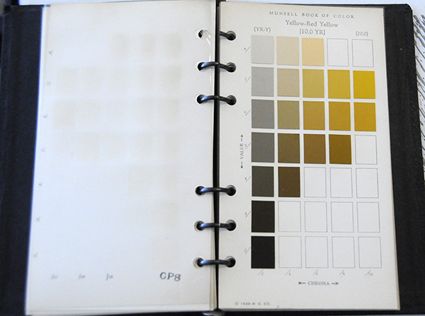 Excerpt from Munsell Book of Color Pocket Edition 10YR