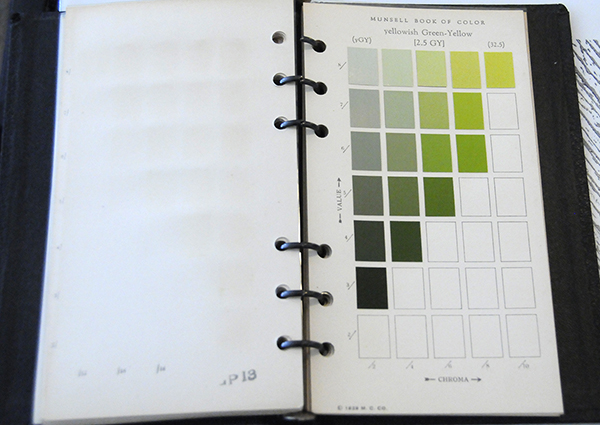 Excerpt from Munsell Book of Color Pocket Edition 2.5GY