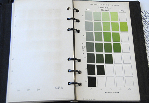 Excerpt from Munsell Book of Color Pocket Edition 5GY